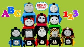 THOMAS AND FRIENDS Learn ABC Letters 123 Numbers |Wooden Railway Take N Play|Best Learning video