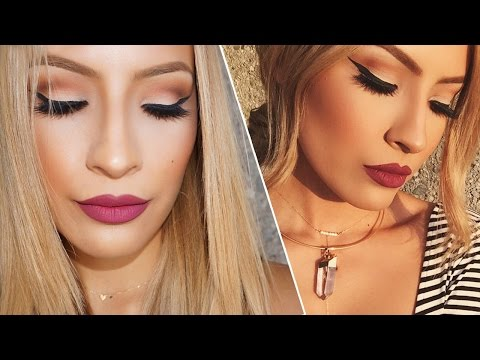 Fall Makeup / Berry Lips & Winged liner/ Talk through