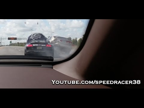 Audi R8 Spyder massive crash