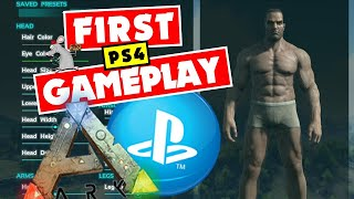 ARK Survival Evolved PS4 Letsplay #1 How To Survive The First Day Or Not