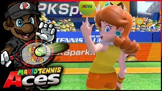 The LONGEST Opening Match Ever! | Mario Tennis Aces w/ @PKSparkxx! [#08 - Daisy]