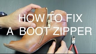 How to Fix a Boot Zipper