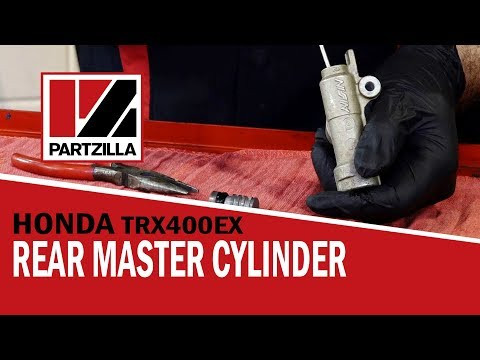 How to Bleed ATV Brakes and Rebuild a Rear Master Cylinder | Partzilla.com