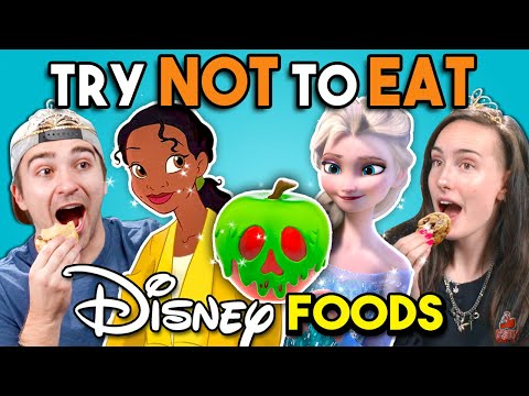 Try Not To Eat Challenge Disney Princess Food People Vs. Food