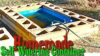 Homemade Large Self Watering Container Gardening with Rain Barrel for Automatic Watering