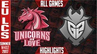 G2 Esports vs Unicorns of Love Highlights ALL GAMES | EU LCS Week 4 Summer 2017 | G2 vs UOL