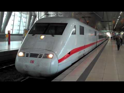 HD German ICE high speed trains at Frankfurt Airport