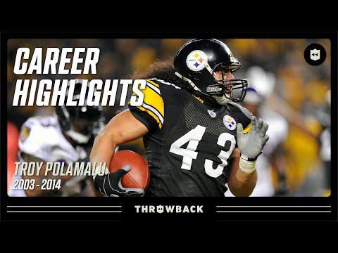 Troy Polamalu's UNREAL Career Highlights | NFL Legends