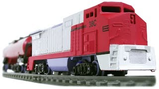 TRAINS FOR CHILDREN: MST Megapolis Speed Train, Red Freight Train Toys Review