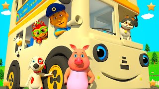 White Wheels On The Bus | 3D Kindergarten Nursery Rhyme Song | Baby Songs by Little Treehouse