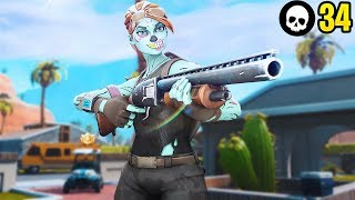 I Joined Ghost Gaming!!! - 34 Kill Solo Squad *PERSONAL RECORD*