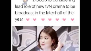 [170803] IU 아이유 her upcoming lead role drama ?? Stay tuned