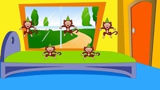 Cinco Macaquinhos   Five little monkeys