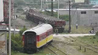 HSH T669 1057 with train to Vlora in Fier station Albania