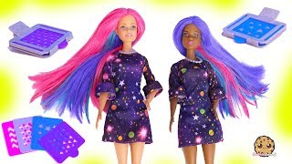 Barbie Color Change Surprise Hair At Style Salon - Water Play Toy Video