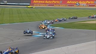 IndyCar Series 2018. Grand Prix of Indianapolis. Start Crashes