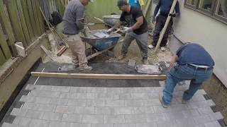 Beginners learn to quickly install Pavers   Concrete and Cement work Contractor