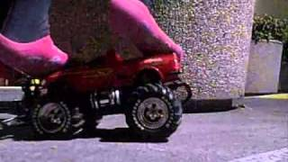 Female Crushing Red Truck_13.wmv