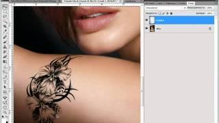 Фотошоп урок Как накладывать рисунок на тело - videosfortube Unblock Youtube