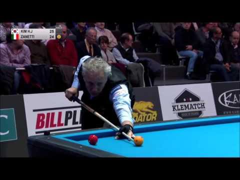 Marco Zanetti vs Heang Jik Kim 3 cushion World Championship 2016 Last 8 Highlights