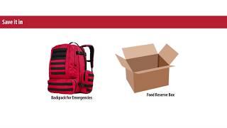 Emergency backpack - Emergency kit