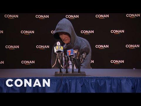 Conan s Post Joke Press Conference CONAN on TBS