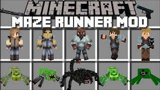 Minecraft MAZE RUNNER MOD / THE DEATH CURE TO ESCAPING THE MAZE!! Minecraft