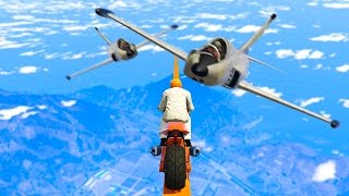 WORLD'S HARDEST DODGE THE PLANES! (GTA 5 Funny Moments)
