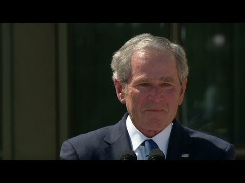 Presidential library leaves Bush teary-eyed