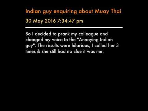 Indian guy enquiring about Muay Thai