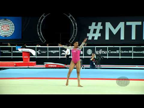 Xxx Mp4 BUDDA REDDY Aruna IND 2017 Artistic Worlds Montréal CAN Qualifications Floor Exercise 3gp Sex