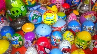 70 Kinder Surprise Eggs - Super Mega Clip! Dora, ToyStory3, Shrek, Angry Birds! by TheSurpriseEggs