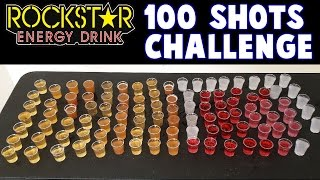 100 Shots of Rockstar Challenge - in 5 Minutes? *Energy Overload* | FreakEating vs The World 124