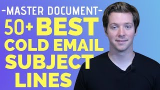 50+ Cold Email Subject Lines To Test [FREE DOWNLOAD]