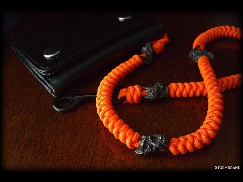 A two strand wall knot sinnet paracord lanyard