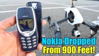 Nokia 3310 Destruction Test  - Extreme 900 Feet Drop Test!