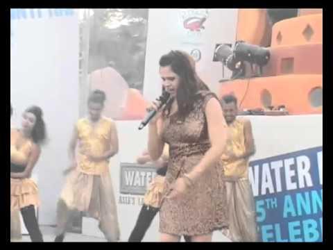 Singer Shalmali performs at Water Kingdom
