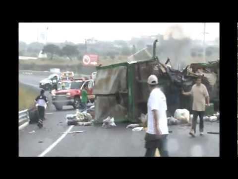 Accidente en la carretera San Miguel de Allende