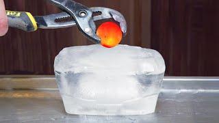 1000 DEGREE METAL BALL VS ICE - EXPERIMENT