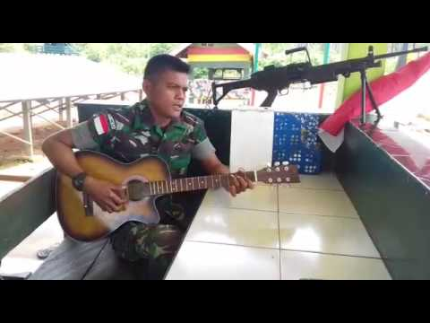"""Tentara TNI AD ganteng nyanyi lagu romantis judul """"pengorbanan"""""""