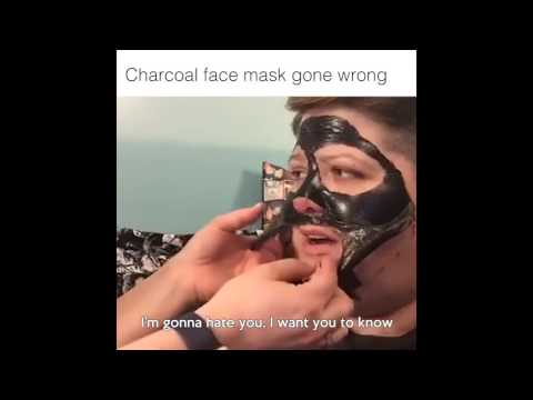 OFFICIAL *cut* CHARCOAL FACE MASK GONE WRONG