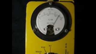 Vintage Bauer creamer radiation measured 2500-3000 CPM on geiger counter cdv700