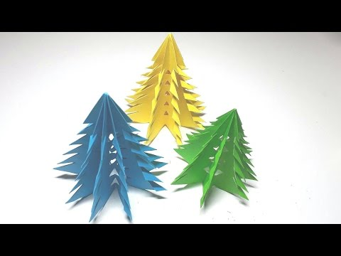 Origami Tutorial - How to fold an Easy Origami 3D Christmas tree
