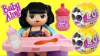 BABY ALIVE Sweet Spoonfuls Baby with LOL Surprise Dolls