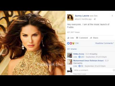 Sunny Leone, On Line Comment of Faceook Live Friends