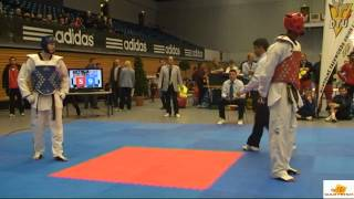 Lutalo Muhammad v Aaron Cook at the 2012 German Taekwondo Open