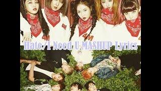4MINUTE/BTS - Hate/I Need U MASHUP