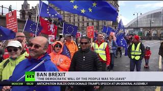 Anti-Brexit protestors demand second vote as Theresa May faces criticism