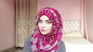 Side Twist Hijab Style // by Saba Jafri