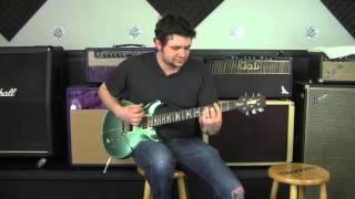 Lucas Plays through the PRS Santana in Frost Green Metallic!